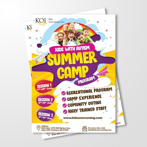 Kids Summercamp Flyer
