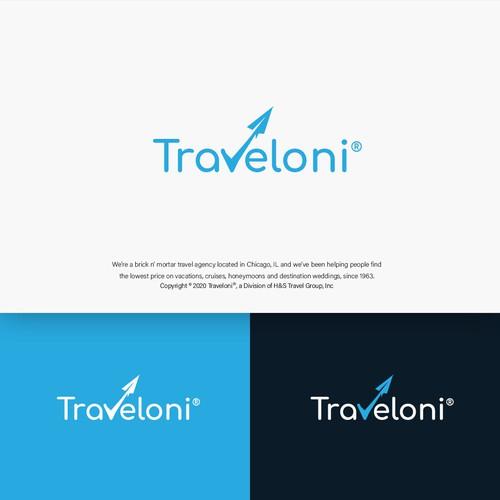 Traveloni Logo Design
