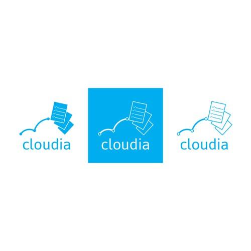 logo concept for cloudia