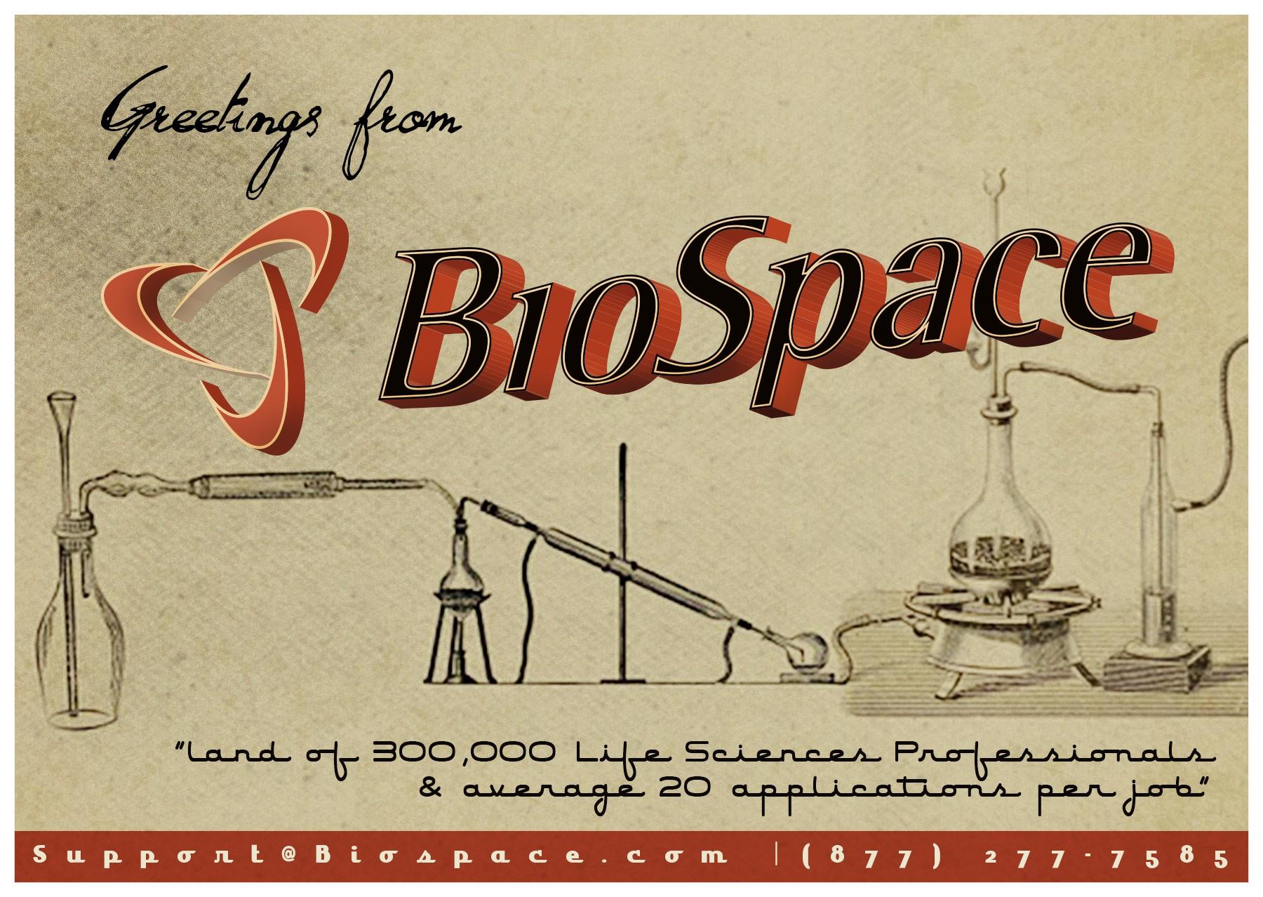 Vintage tourism inspired postcard for BioSpace