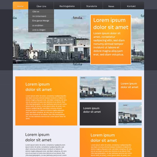 Create a Wordpress-Design for a german law firm