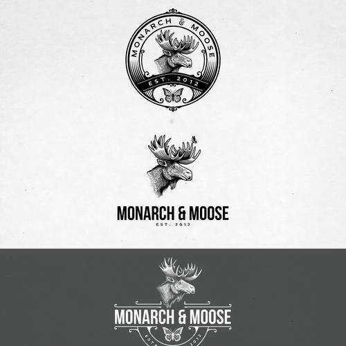 MONARCH AND MOOSE LOGO DESIGN