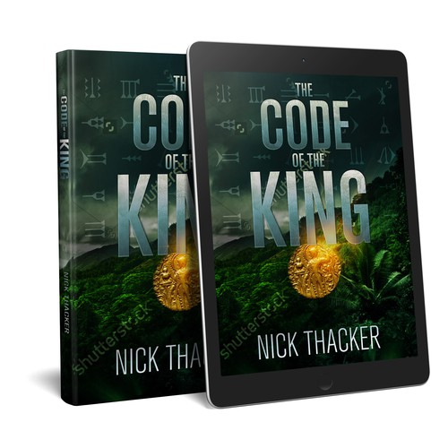 """Book cover design for """"The Code of the King"""""""