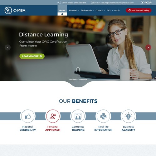 Clean Education site design