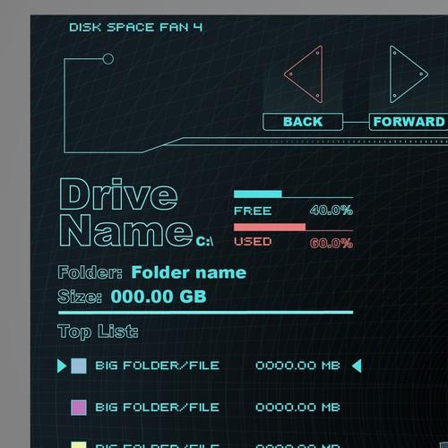 UI design for a disk analyzer desktop application