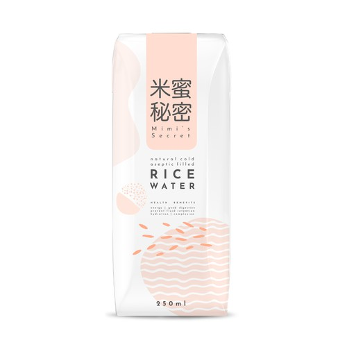 Packaging design for rice water