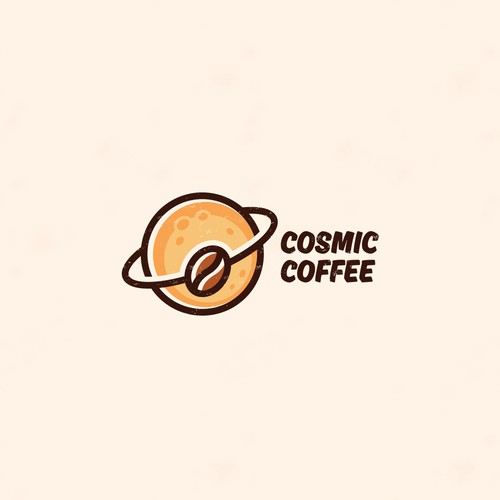 Creative logo for Cosmic Coffee