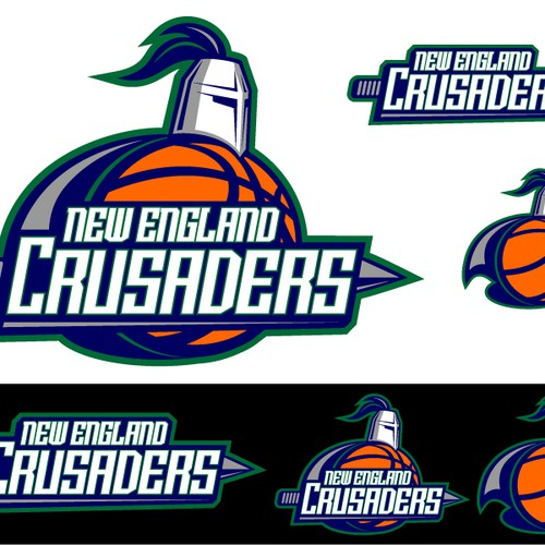 New England Crusaders Logo Design