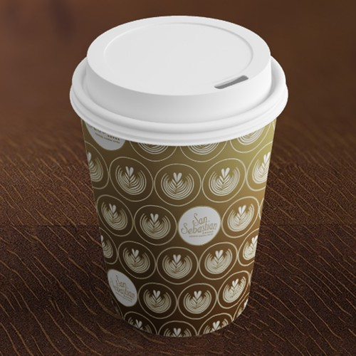 Design a paper cup for a coffee roaster