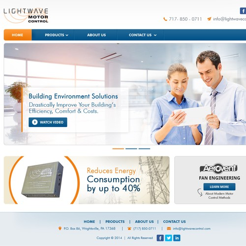 Website Redesign for Lightwave Motor Control