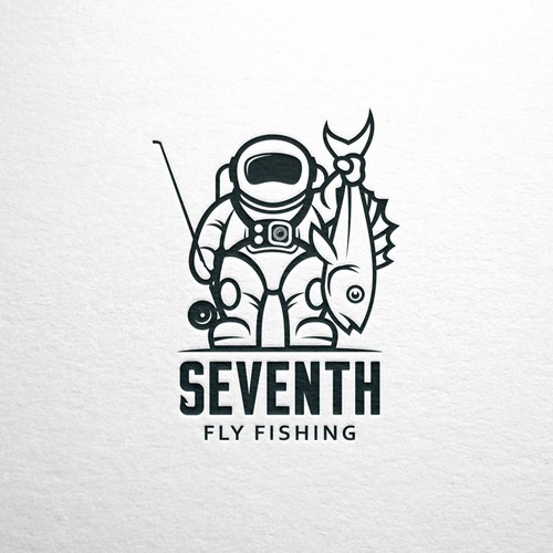 Mascot logo for Seventh Fly Fishing