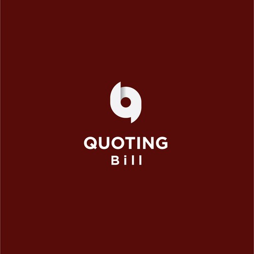 bold logo concept for quoting