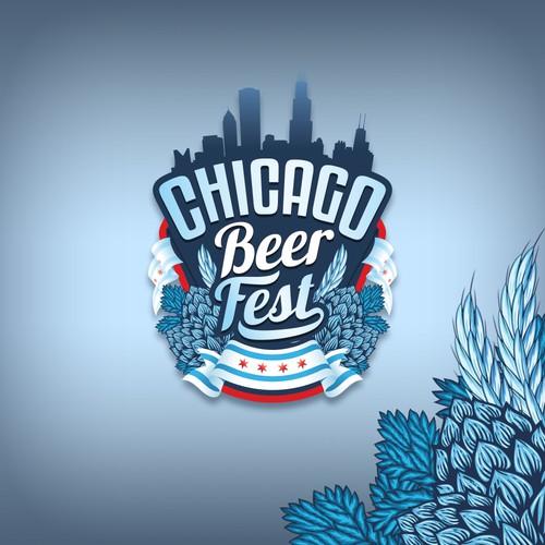 Vintage style logo design for beer fest.