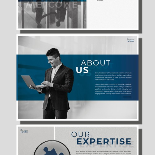 Modern and clean Brochure for Recruitment Company