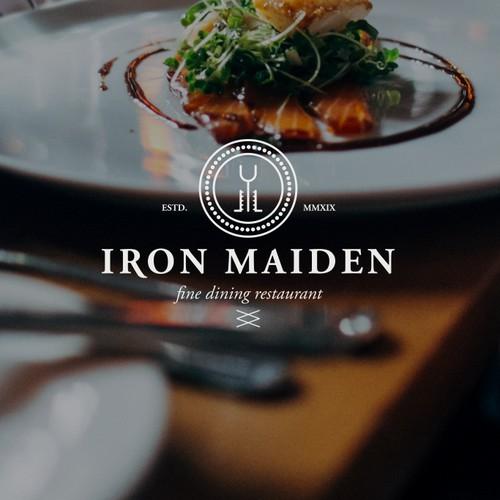 modern medieval logo for fine dining restaurant