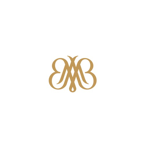 Monogram + Butterfly For Sale