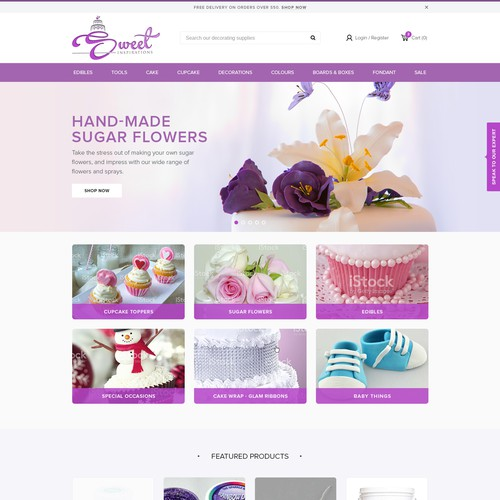 Create a new and refresh Sweet Inspirations web design