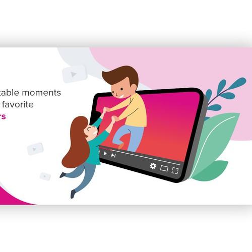 Website banner illustration for Youmazed