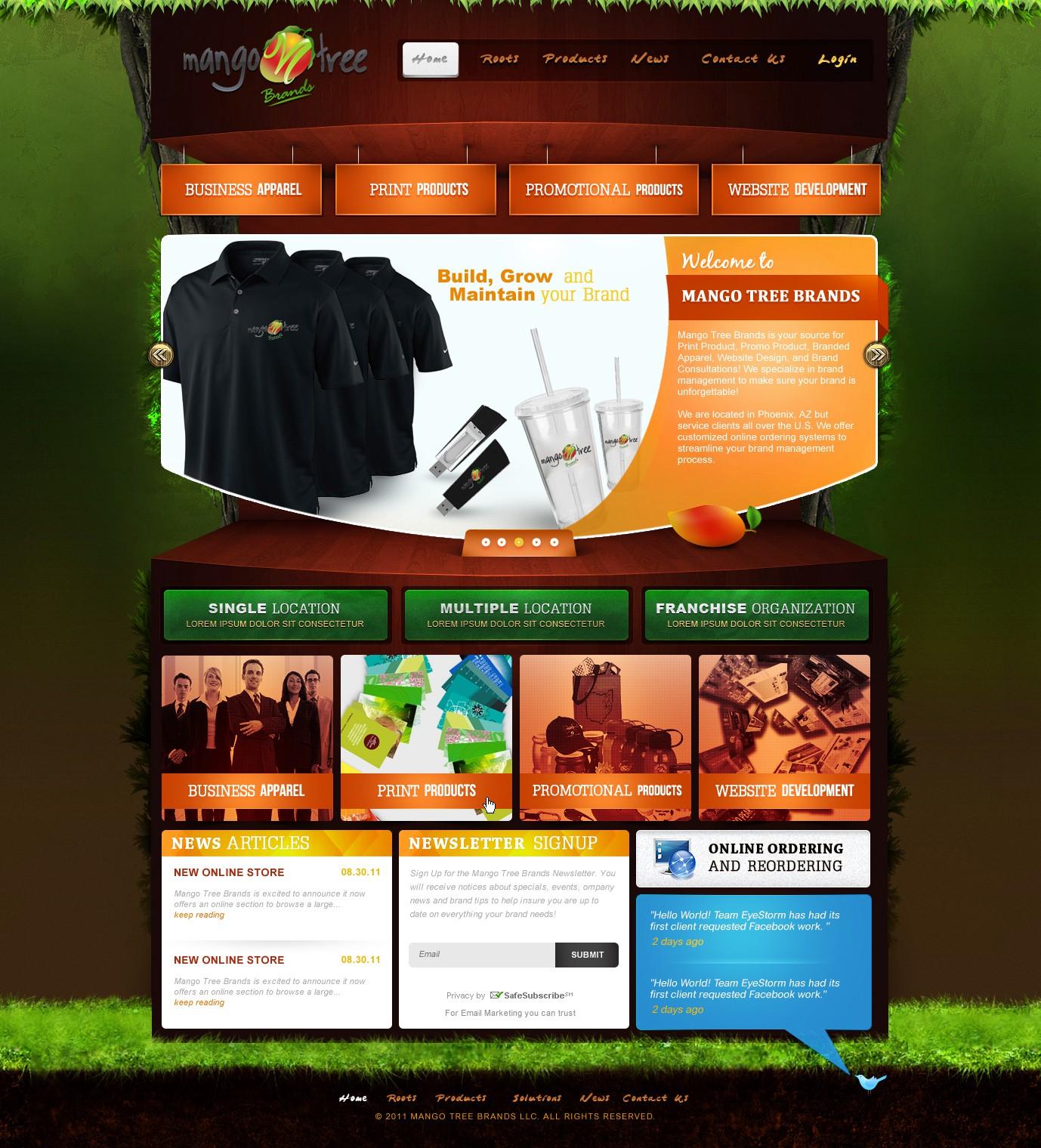 Create the next website design for Mango Tree Brands