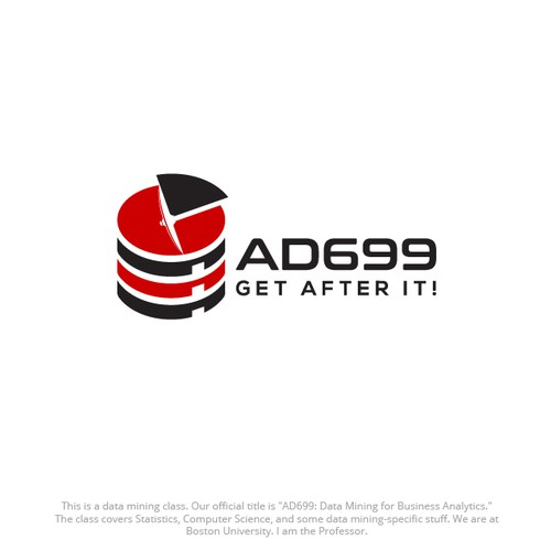 "Logo for a data mining class named ""AD699"""