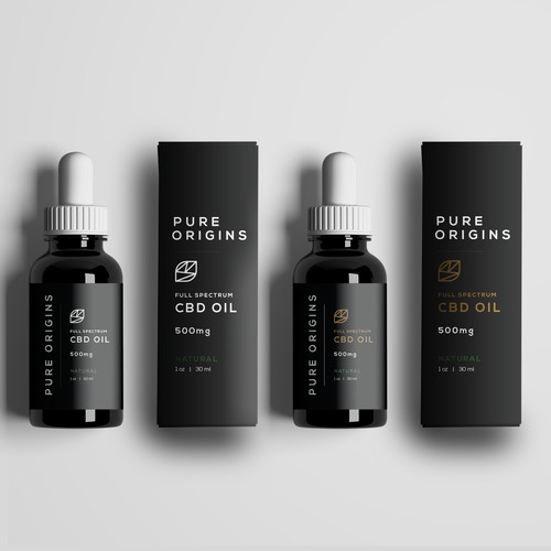 Elegant, packaging for premium CBD oil
