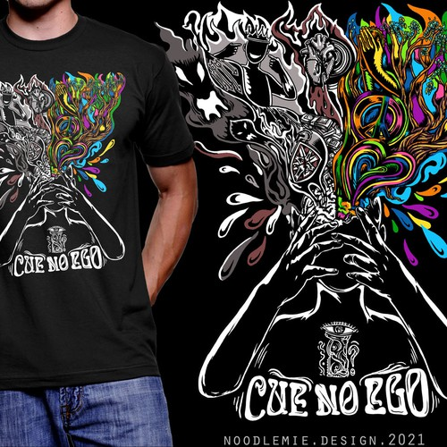 Cue no ego band t-shirt contest