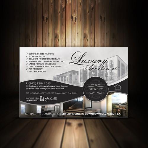 Postcard Design - Savannah Magazine Ad-The Bowery Apartments