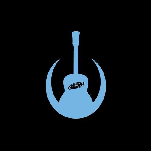 Flat logo concept for a custom guitar maker.