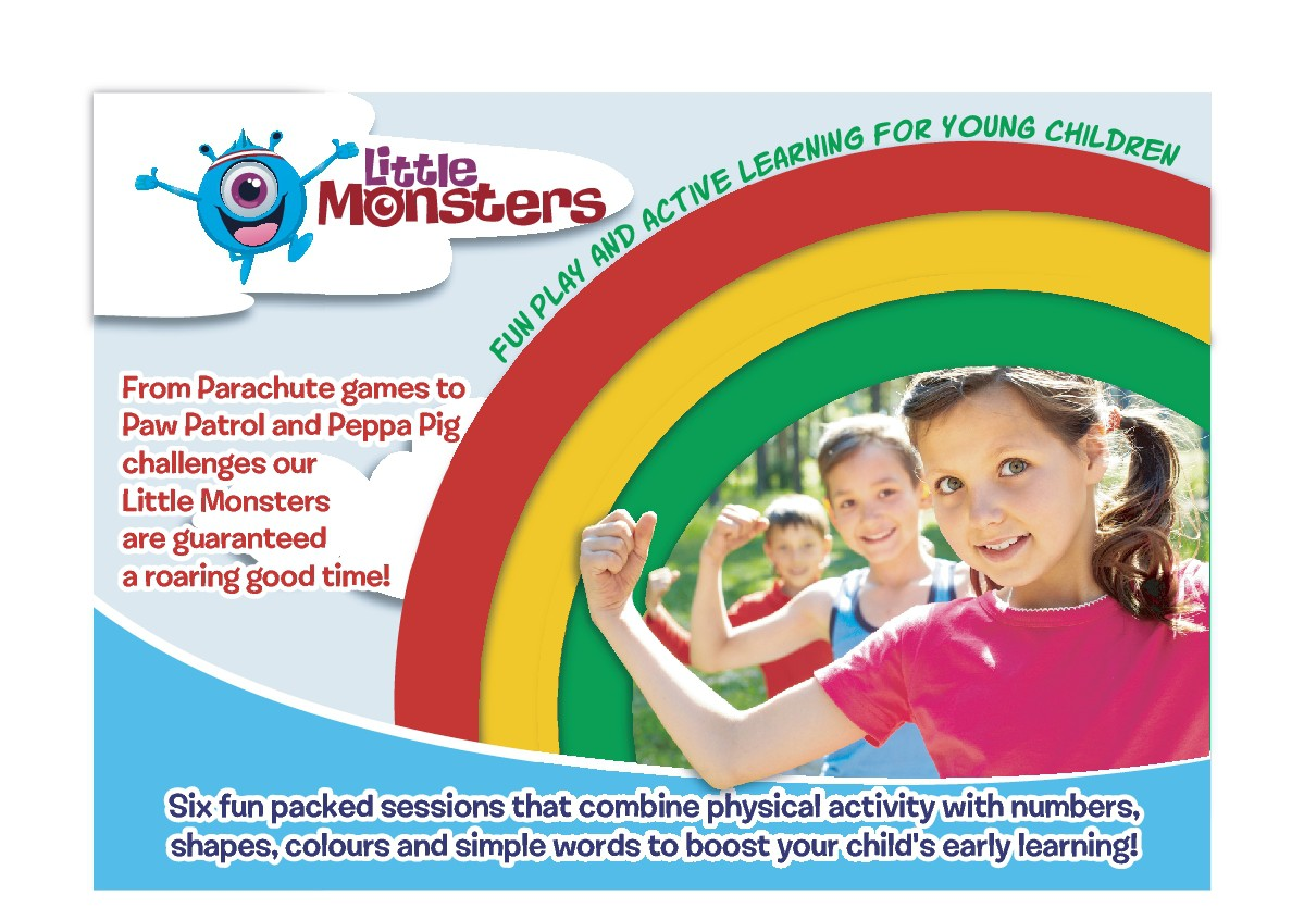 Poster and post cards advertising sports coaching programmes for children.