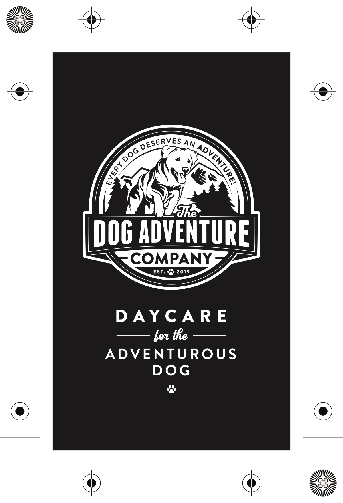 The Dog Adventure Company business card design