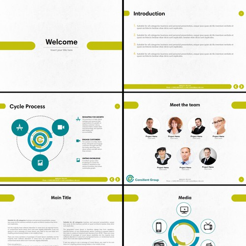 PowerPoint presentation for an US Business & Consulting company