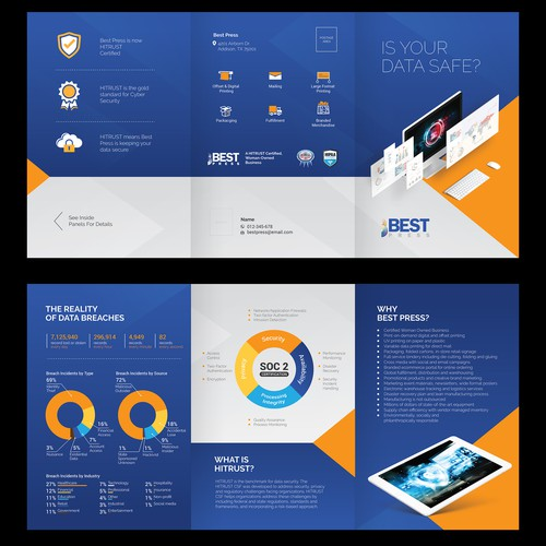 6 Pages Tri-fold A4 brochure