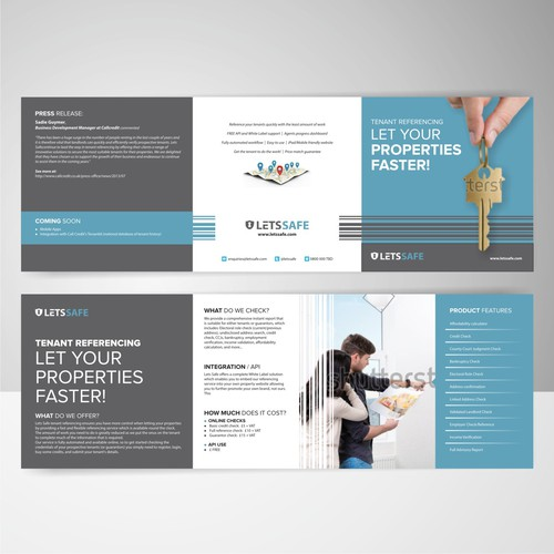 Create a standout flyer for Lets Safe www.letssafe.com