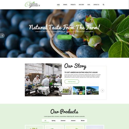 Website design for Devine Organics
