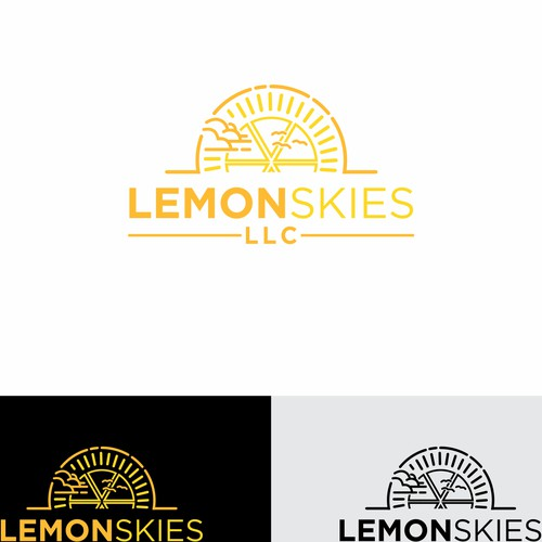Logo concept for lemon skies