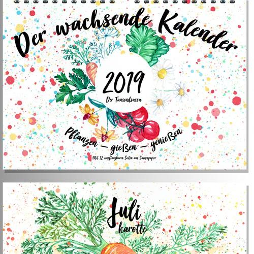 Plantable seasonal calendar