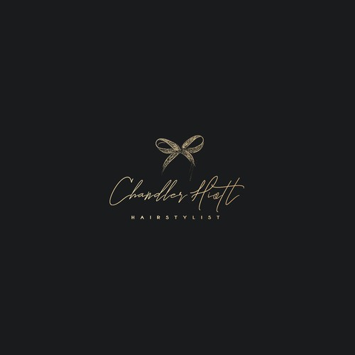 Bow logo for classy hairstylist