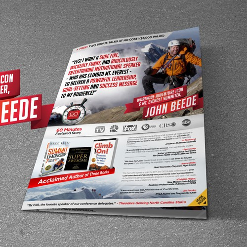 *Guaranteed* - Mt. Everest Climber Looking for a Wicked Cool Brochure Design!
