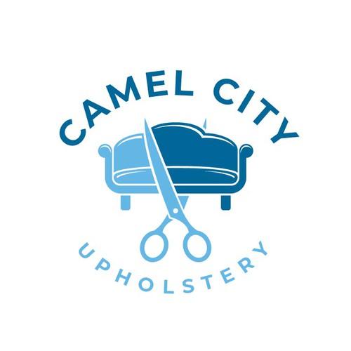 Premium logo concept for Camel City Upholstery.