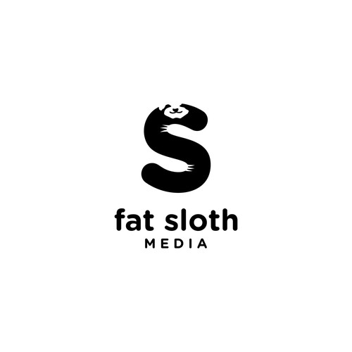 Logo concept for fat sloth media