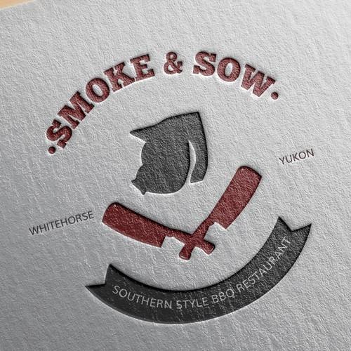 Smoke & sow logo design