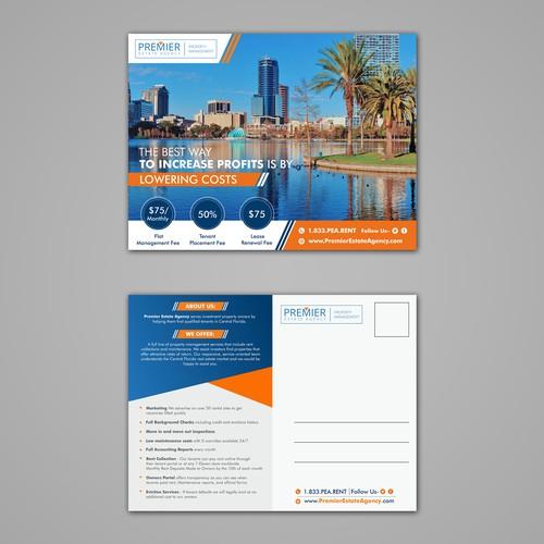 Premier Estate Agency Postcard