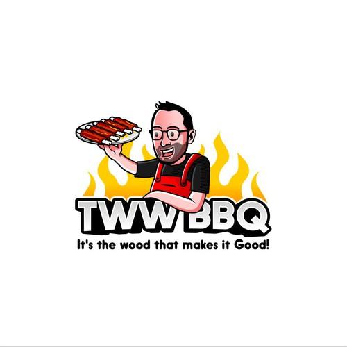 Fun BBQ Logo for TWW BBQ