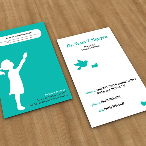 Dr. Tram needs a Business Card!