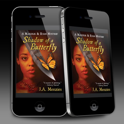 """Shadow of a Butterfly"" Mystery novel cover"