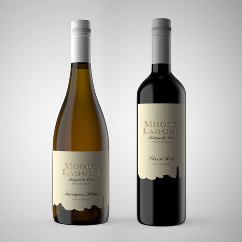 UK wine label design for Benguela Cove