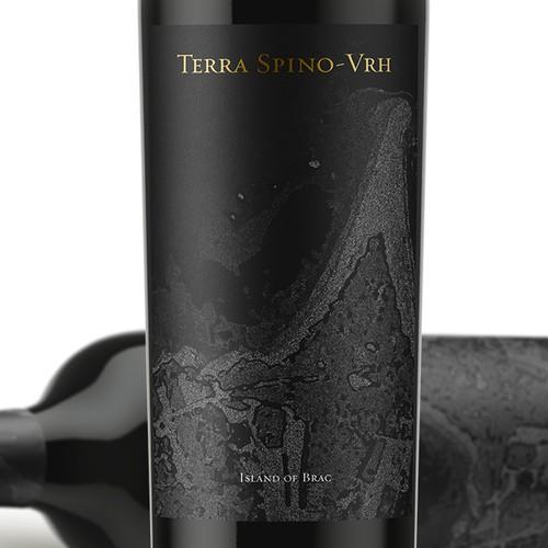 Luxury wine label