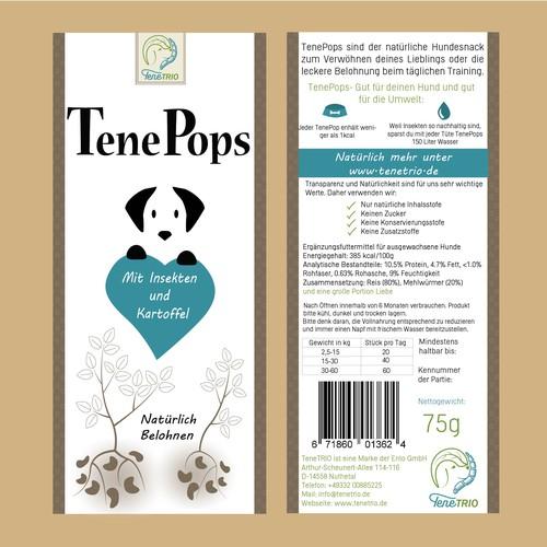 Label for dog food
