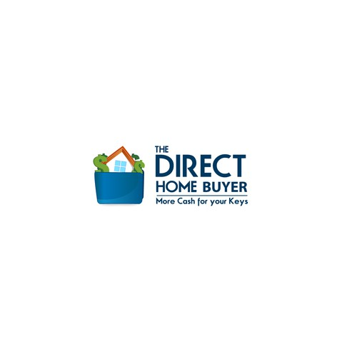 Create a friendly logo/symbol/character brand for The Direct Home Buyer