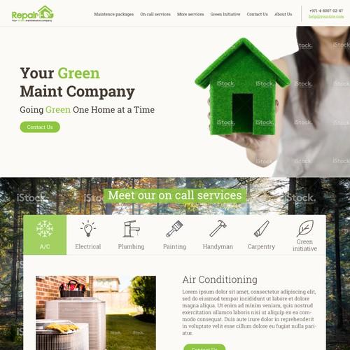 Website Design for Repair Plus (Repair+), A Green Maintenance Company